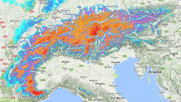 90cm of snow in the Alps already