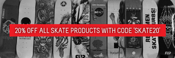 20% Off all Skate Products
